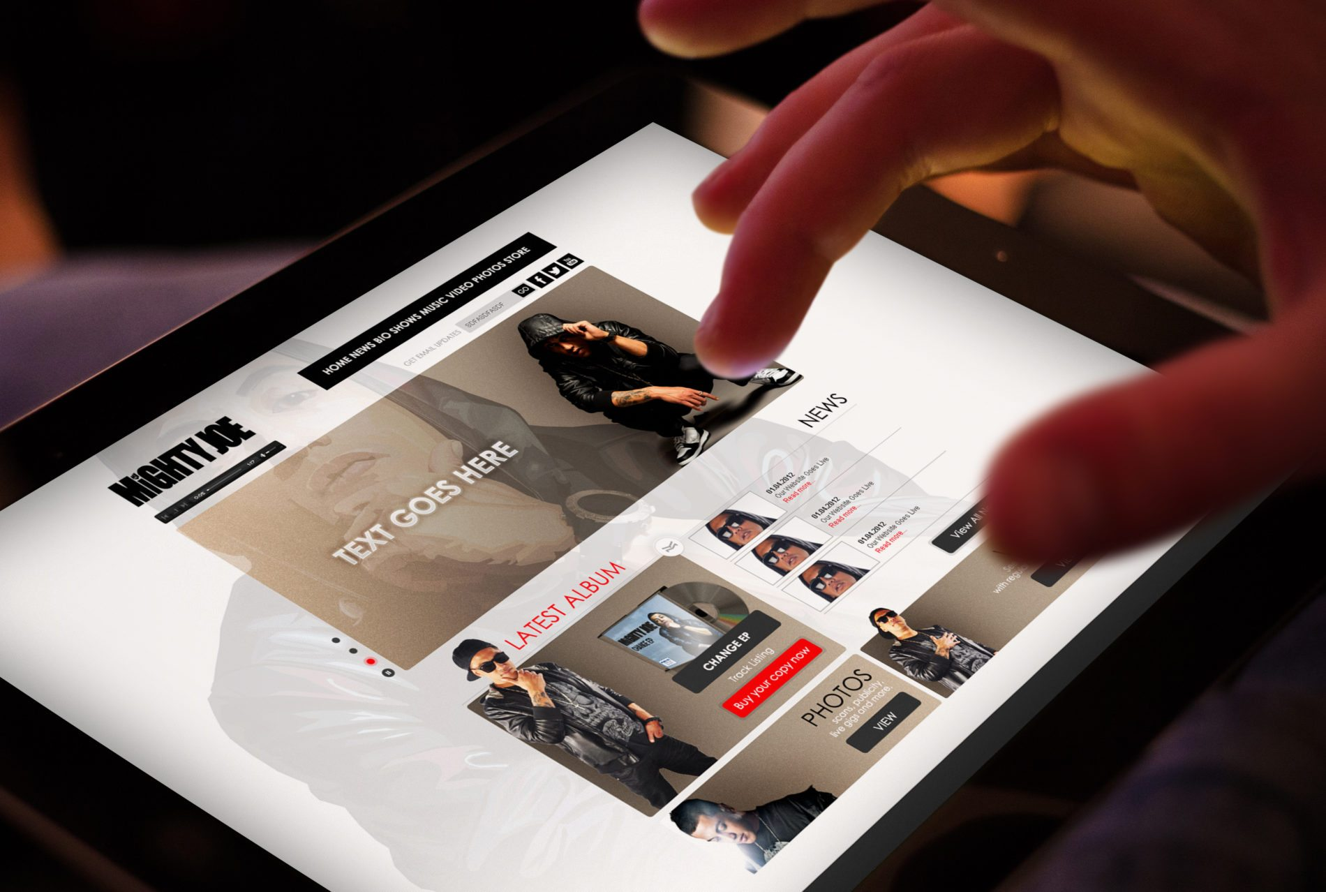 Mighty Joe - Cronulla Web Design - Brand Design Sutherland Shire