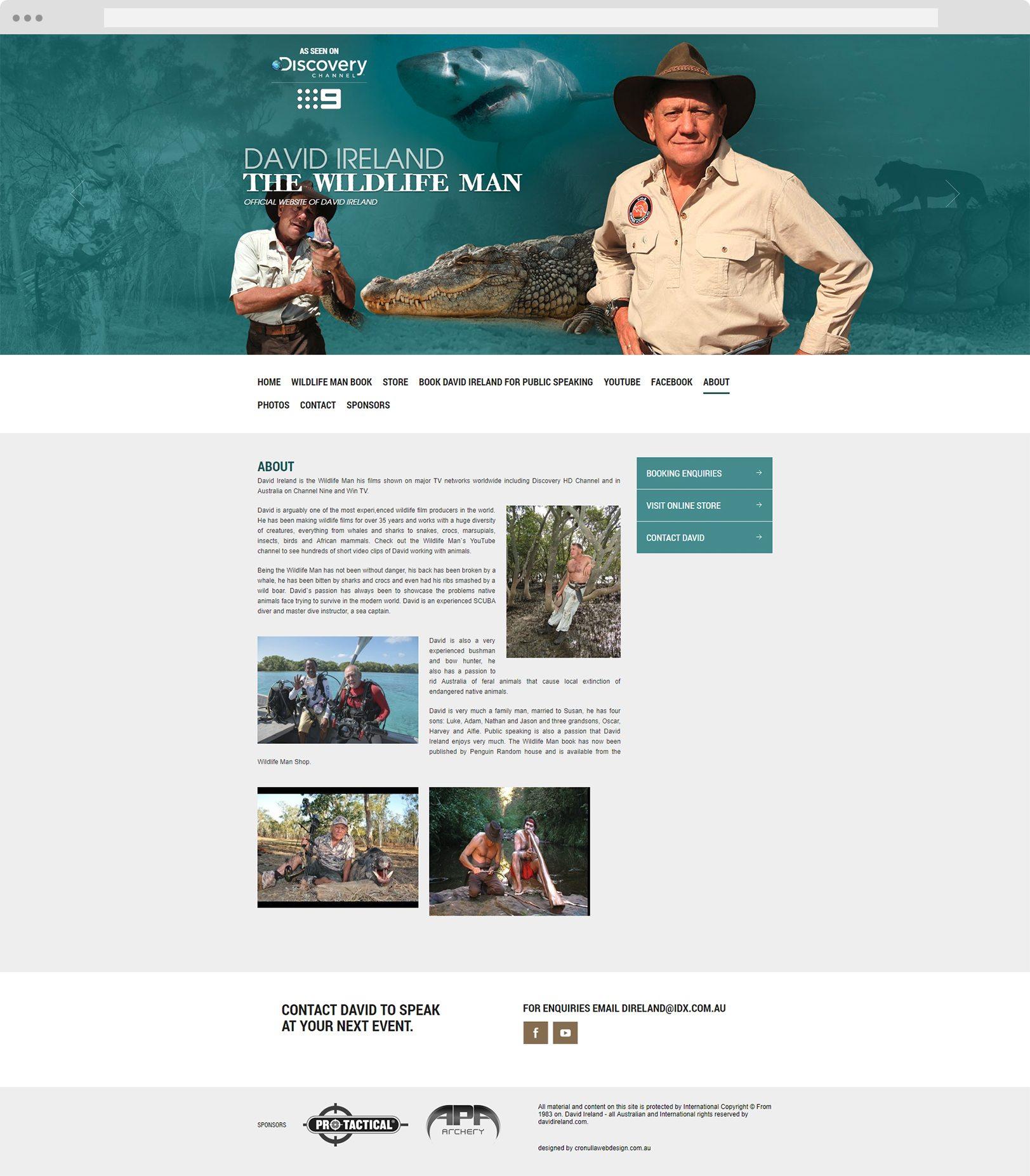 David Ireland - Cronulla Web Design - Website Design Sutherland