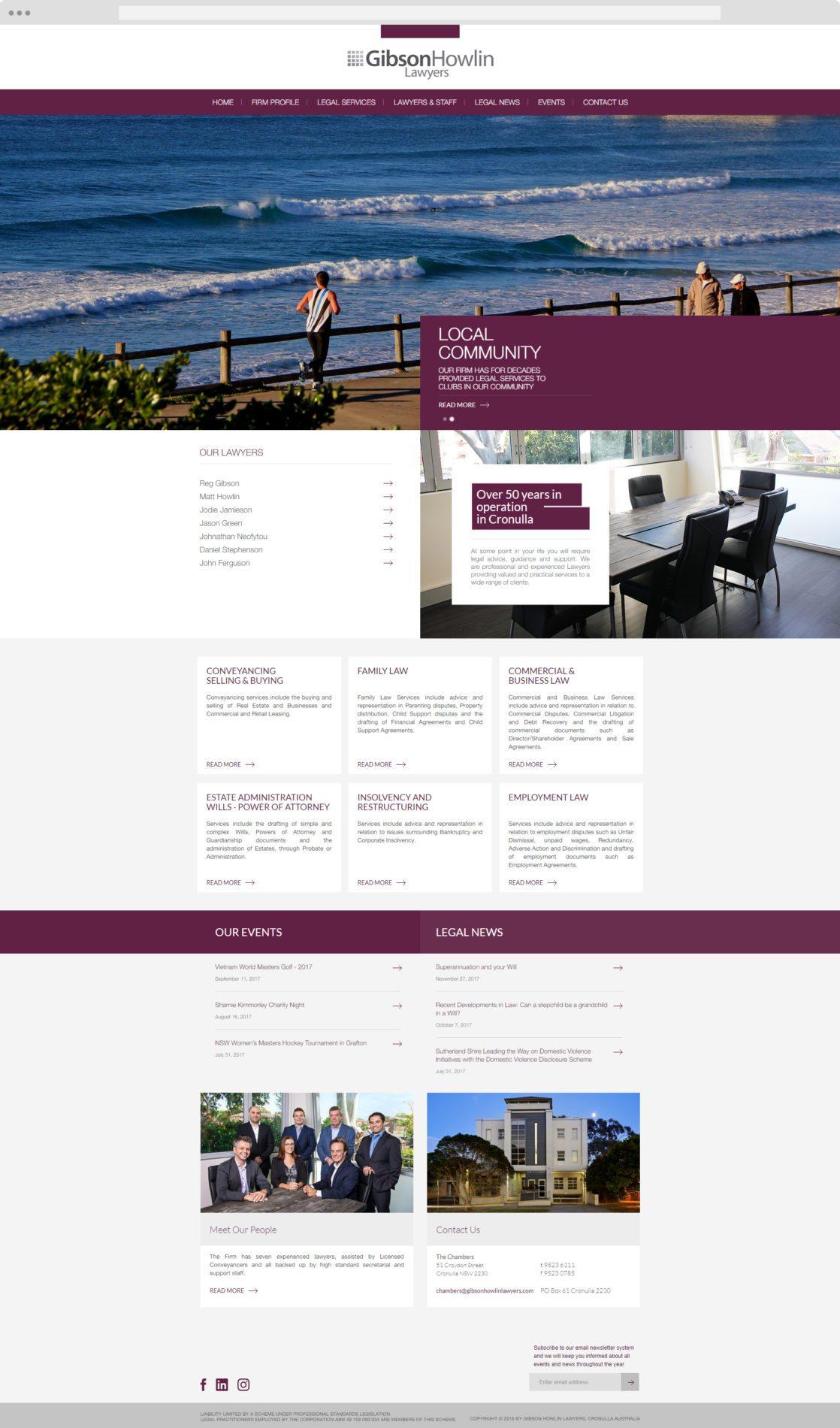 Gibson Howlin - Cronulla Web Design - Web Design Caringbah