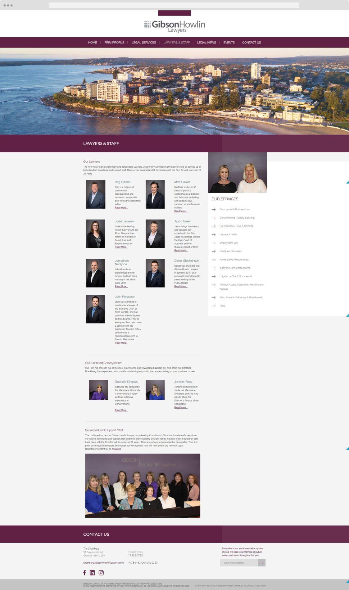 Gibson Howlin - Cronulla Web Design - Website Design Cronulla