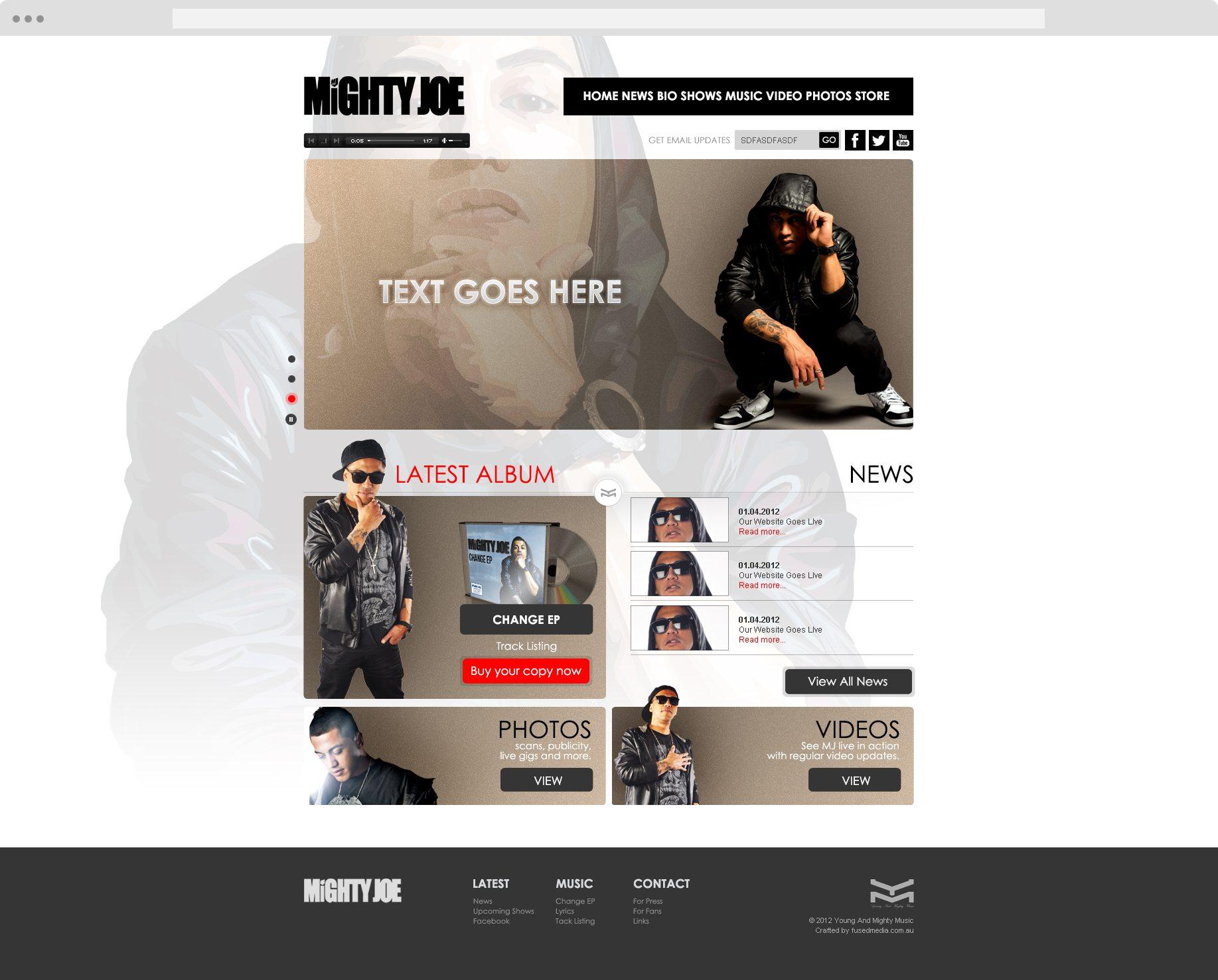 Mighty Joe - Website Design - Cronulla Web Design