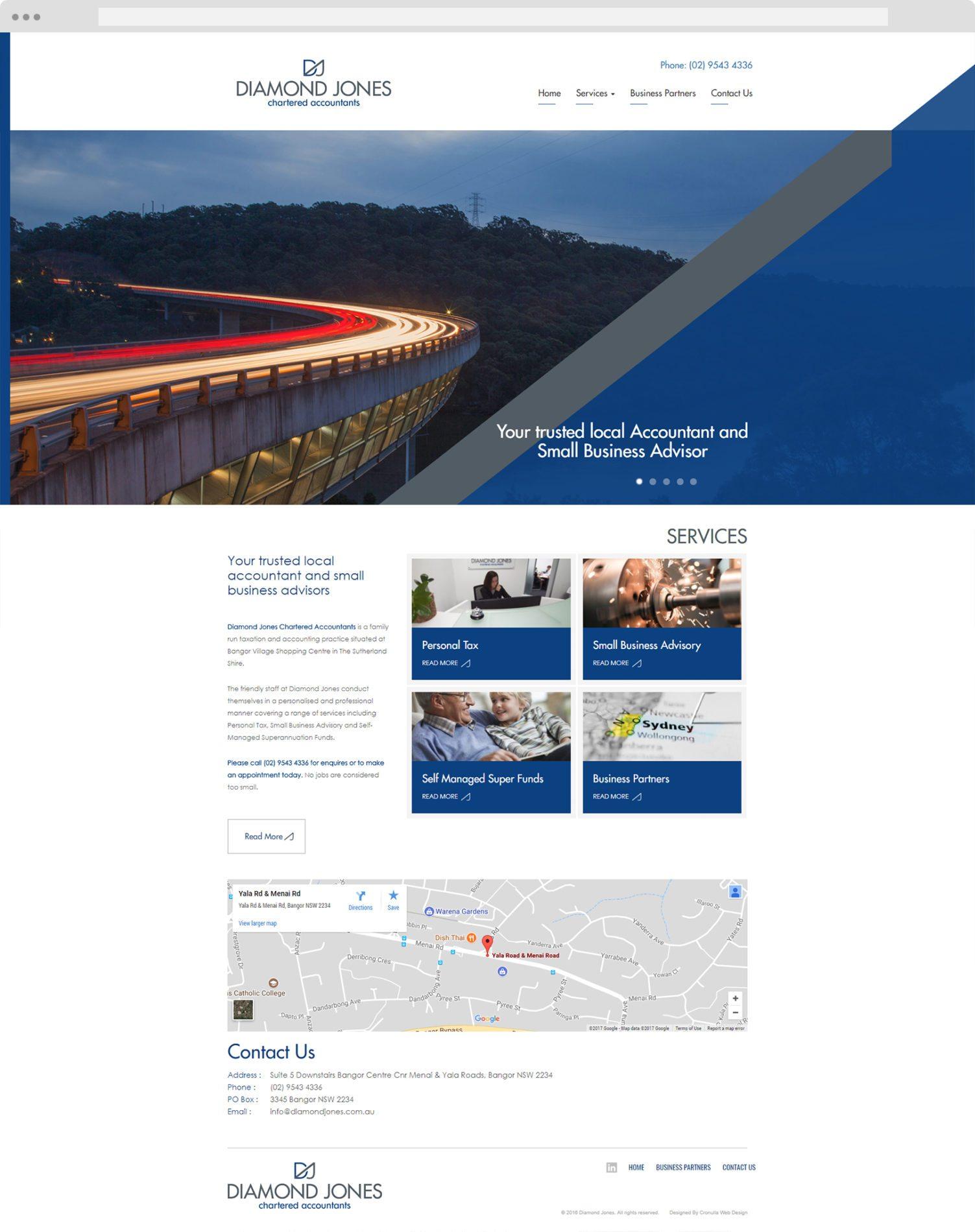 Diamond Jones - Cronulla Web Design - Website Design