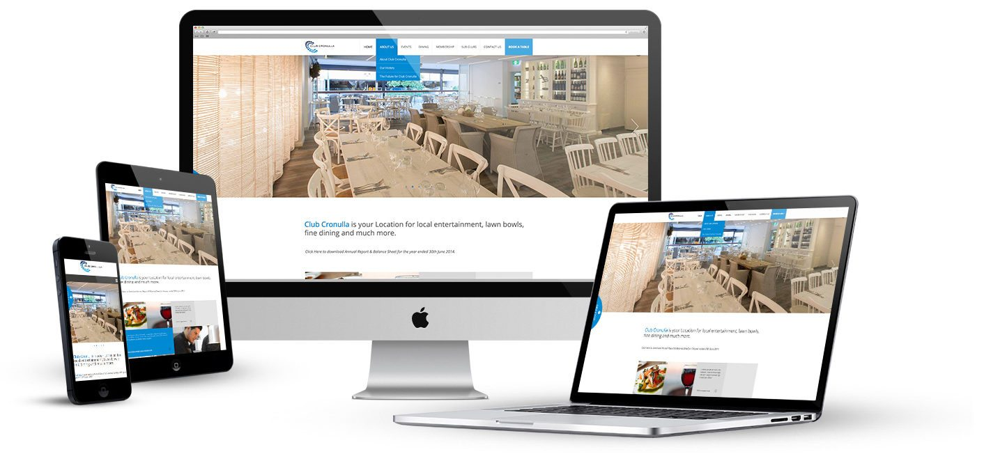 Club Cronulla - Cronulla Web Design - Web Design Sutherland