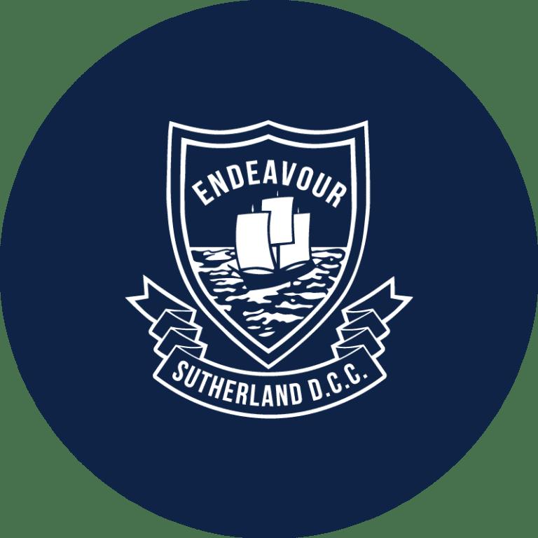 Sutherland Cricket Logo Graphic Design