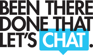 Been There Done That Let's Chat Logo Design